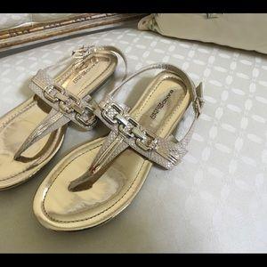 Bandolino Nonnie Gold Sandals size 9